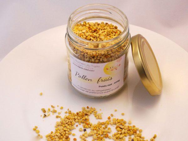 pot de 100g de pollen frais ouvert