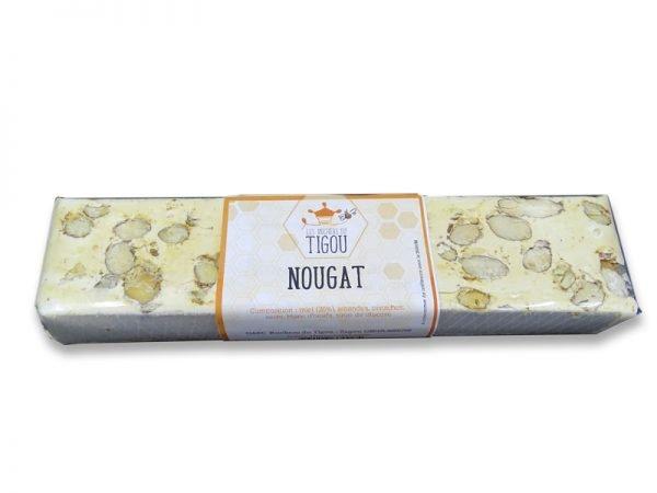 nougat au miel amandes et pistaches 100g