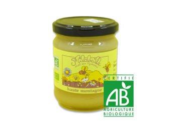 Miel bio de haute montagne pot de 250g producteur Milabeille