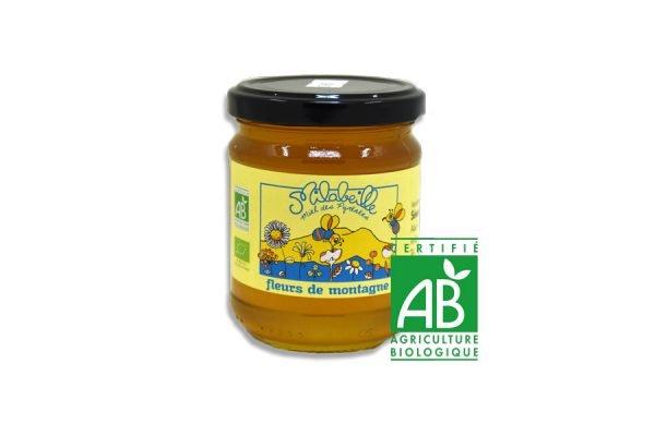 miel bio de montagne Pyrénées pot de 250g