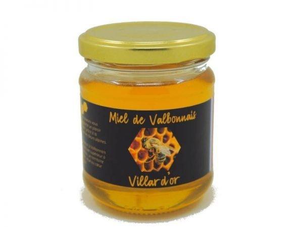 Pot de miel de Valbonnais 250g des Ruchers Villard'Or, produit en Isère, au coeur des Alpes.