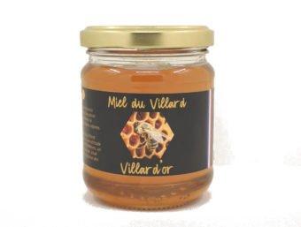 Pot de miel de Villard 250g des Ruchers Villard'Or, produit en Isère, au coeur des Alpes.