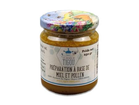 préparation miel et pollen 250g