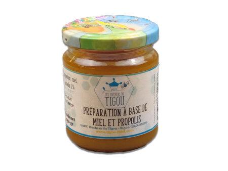 preparation miel et propolis 250g