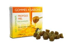 Gommes à mâcher au miel et à la propolis goût eucalyptus