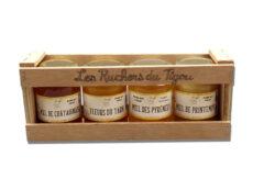 Coffret cadeau 4 pots de miel 125g